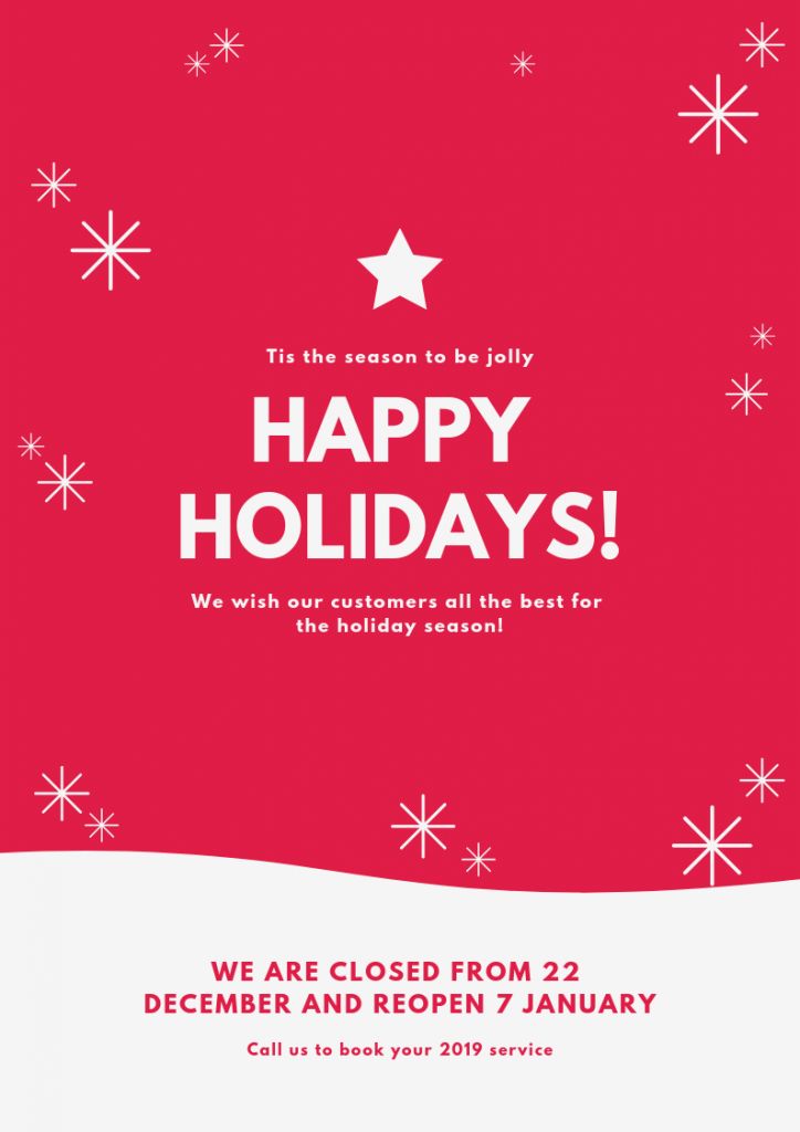 Volks Affair wish our customers a happy holiday